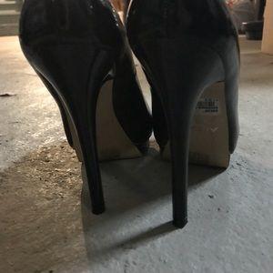 Aldo platform open toe pumps